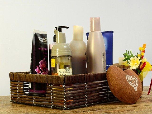 kosmetika v košíku