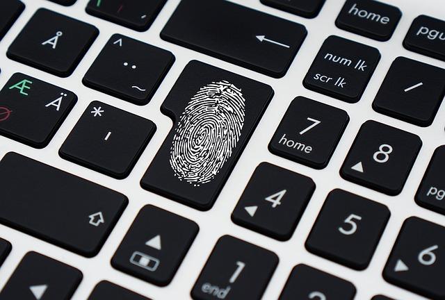 klávesa s otiskem prstu