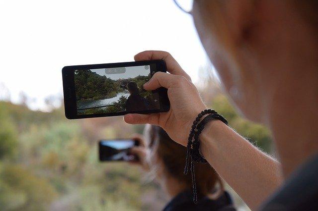 focení řeky mobilem