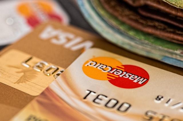 bankovní karty, detail