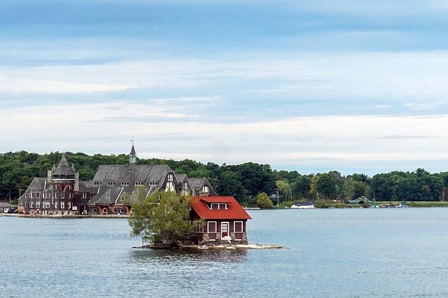 dům na ostrůvku